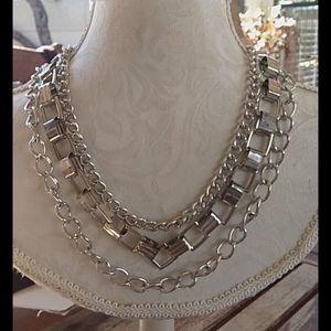 NWT Ashley Stewart silvertone necklace